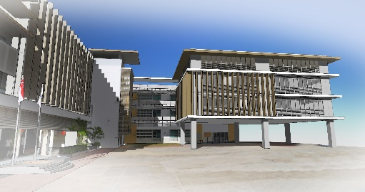 3D picture of new extension to Beacon Primary School.